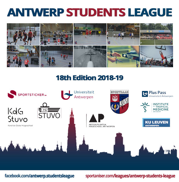 Antwerp Students League Sportaniser.com