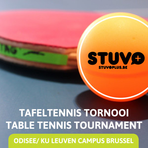 Banner Sportaniser 2017 Table Tennis Tournament Odisee Campus Brussel