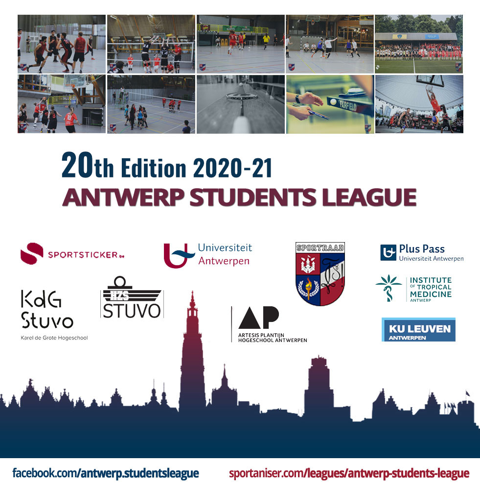 20th Edition Antwerp Students League 2020-21 Sportaniser.com